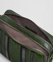 BOTTEGA VENETA FOREST/NERO NAPPA TECH STRIPE MESSENGER Messenger Bag Man dp