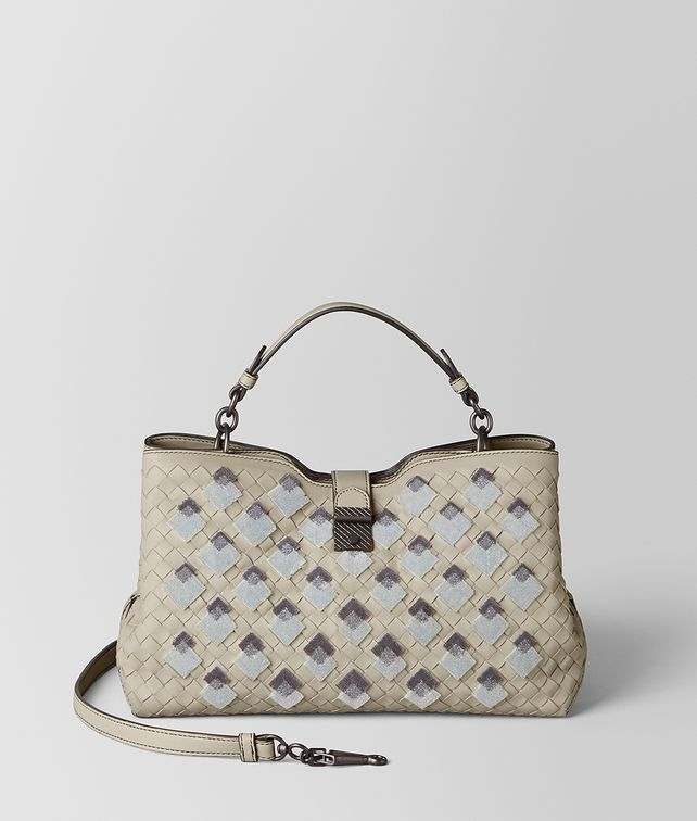BOTTEGA VENETA SAC NAPOLI EN VELOURS INTRECCIATO CEMENT Sac à main [*** pickupInStoreShipping_info ***] fp