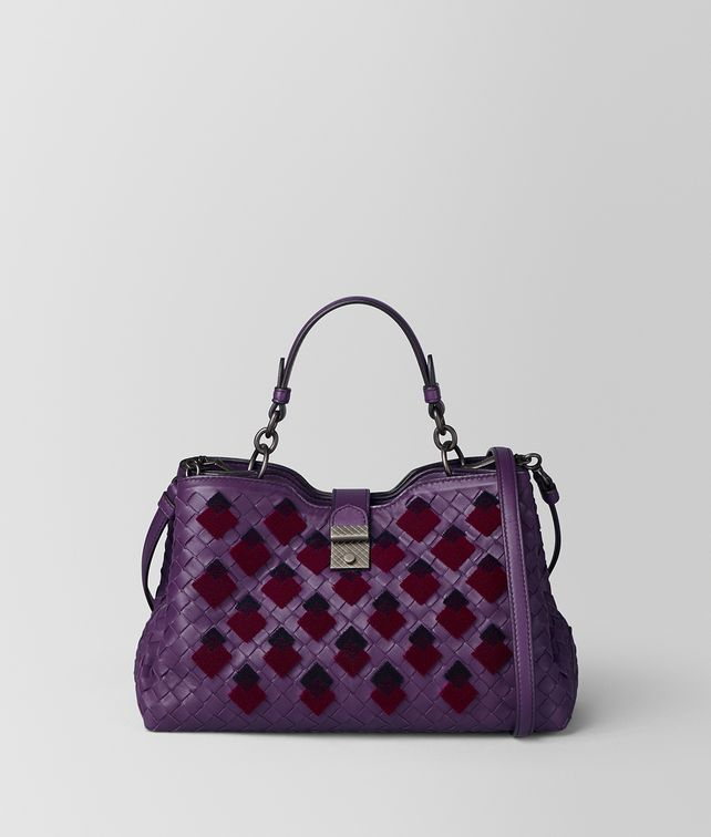 BOTTEGA VENETA MONALISA INTRECCIATO VELVET NAPOLI BAG Top Handle Bag Woman fp