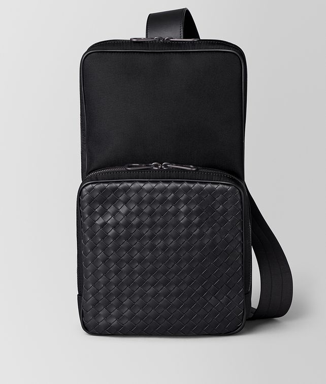BOTTEGA VENETA NERO HI-TECH CANVAS SLING BACKPACK Backpack [*** pickupInStoreShippingNotGuaranteed_info ***] fp