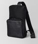 BOTTEGA VENETA NERO HI-TECH CANVAS SLING BACKPACK Backpack Man rp