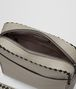 BOTTEGA VENETA DARK CEMENT/NERO CALF INTRECCIATO CHECKER PILOT BAG Messenger Bag Man dp
