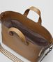 BOTTEGA VENETA CAMEL/CEMENT CALF INTRECCIATO CHECKER BV TOTE Tote Bag Man dp
