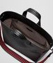 nero/china red calf intrecciato checker bv tote Back Portrait