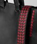BOTTEGA VENETA NERO/CHINA RED CALF INTRECCIATO CHECKER BV TOTE Tote Bag Man ep