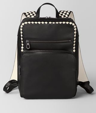 NERO/MIST CALF INTRECCIATO CHECKER BACKPACK