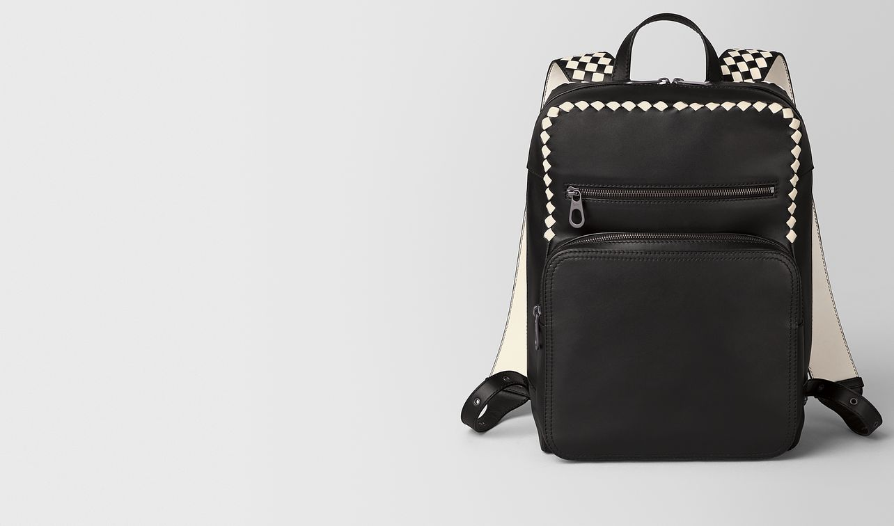 nero/mist calf intrecciato checker backpack landing