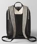 nero/mist calf intrecciato checker backpack Back Detail Portrait