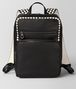 nero/mist calf intrecciato checker backpack Front Portrait