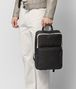 BOTTEGA VENETA NERO/MIST CALF INTRECCIATO CHECKER BACKPACK Backpack Man lp