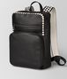 nero/mist calf intrecciato checker backpack Right Side Portrait