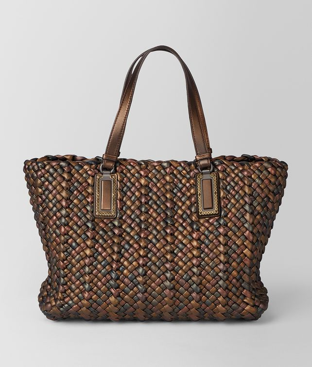 BOTTEGA VENETA BRONZE NAPPA ANTIQUE LIDO Tote Bag [*** pickupInStoreShipping_info ***] fp