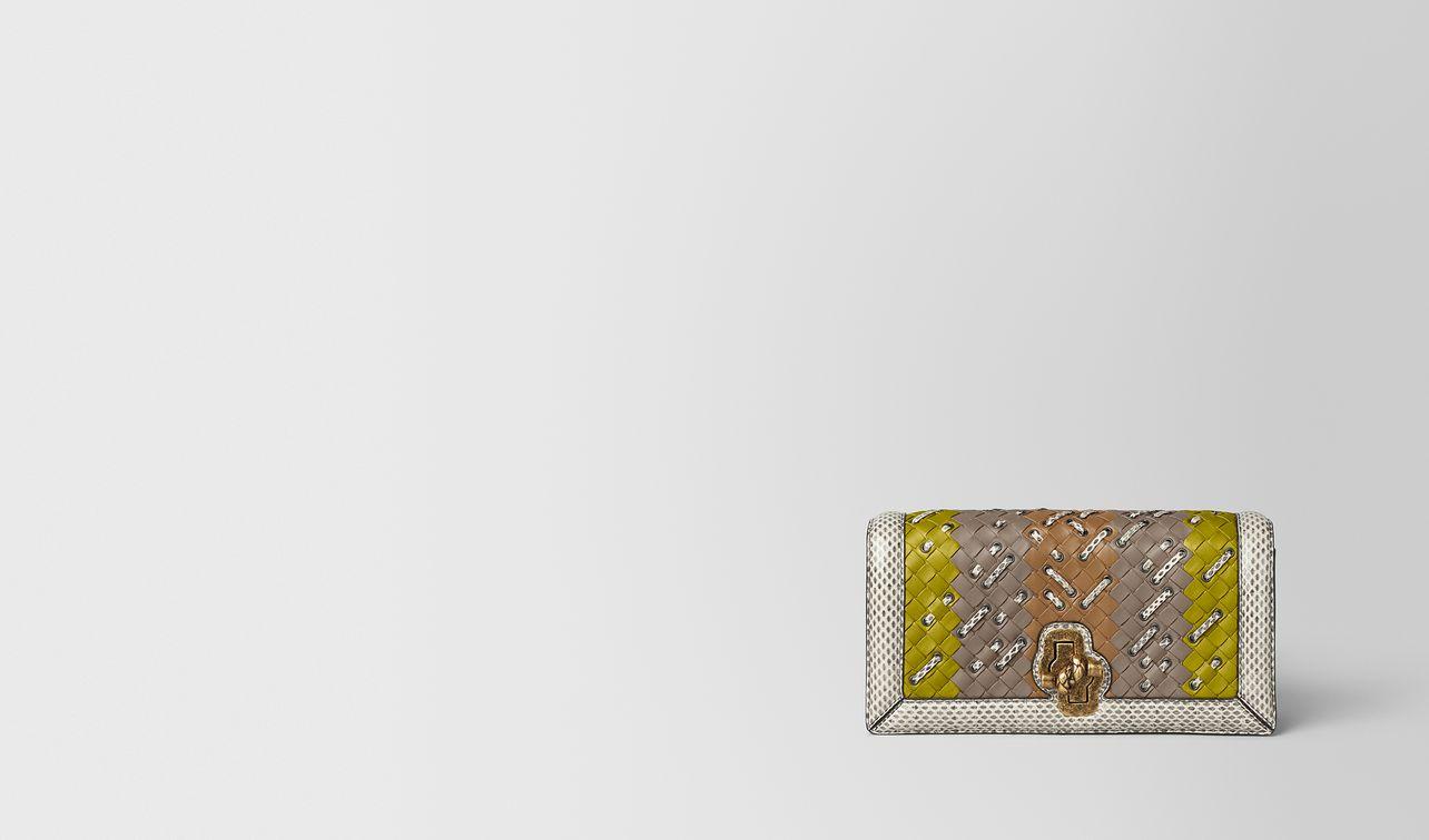 chamomile intrecciato club stitch knot clutch landing