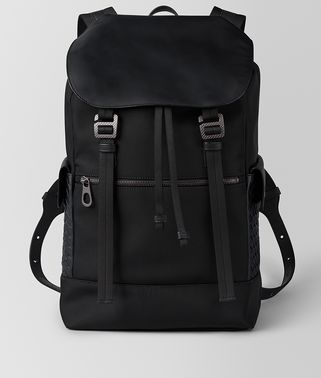 NERO HI-TECH CANVAS SASSOLUNGO BACKPACK