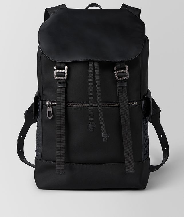 BOTTEGA VENETA NERO HI-TECH CANVAS SASSOLUNGO BACKPACK Backpack Man fp