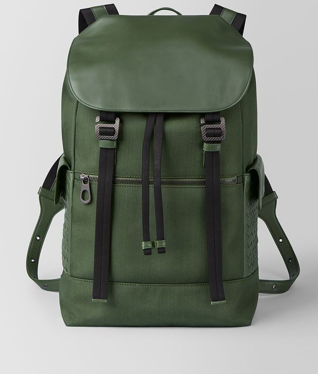 BOTTEGA VENETA FOREST HI-TECH CANVAS SASSOLUNGO BACKPACK Backpack [*** pickupInStoreShippingNotGuaranteed_info ***] fp