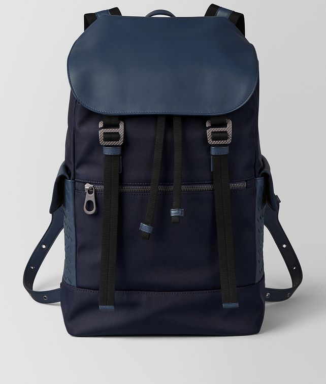 BOTTEGA VENETA TOURMALINE/PACIFIC HI-TECH CANVAS SASSOLUNGO BACKPACK Backpack [*** pickupInStoreShippingNotGuaranteed_info ***] fp