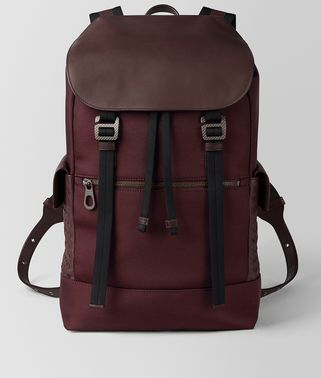 DARK BAROLO HI-TECH CANVAS SASSOLUNGO BACKPACK