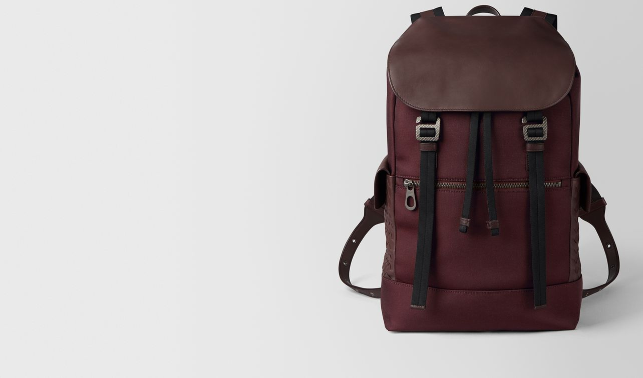dark barolo hi-tech canvas sassolungo backpack landing
