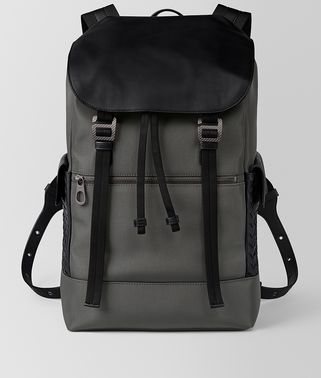 LIGHT GREY HI-TECH CANVAS SASSOLUNGO BACKPACK