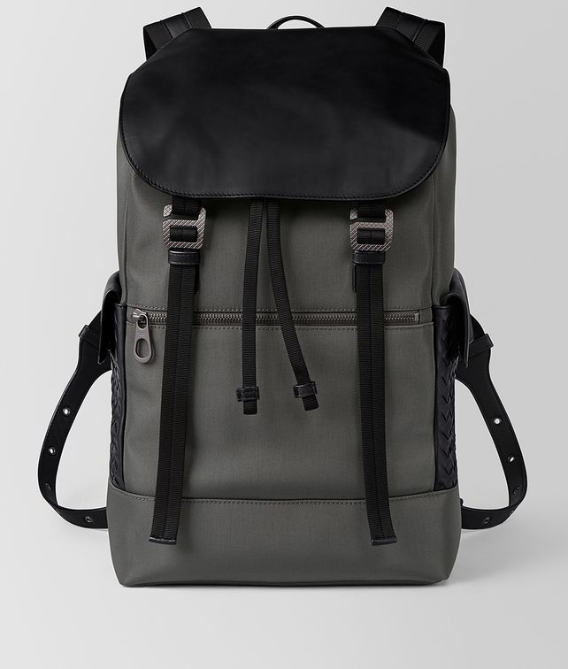 BOTTEGA VENETA LIGHT GREY HI-TECH CANVAS SASSOLUNGO BACKPACK Backpack Man fp
