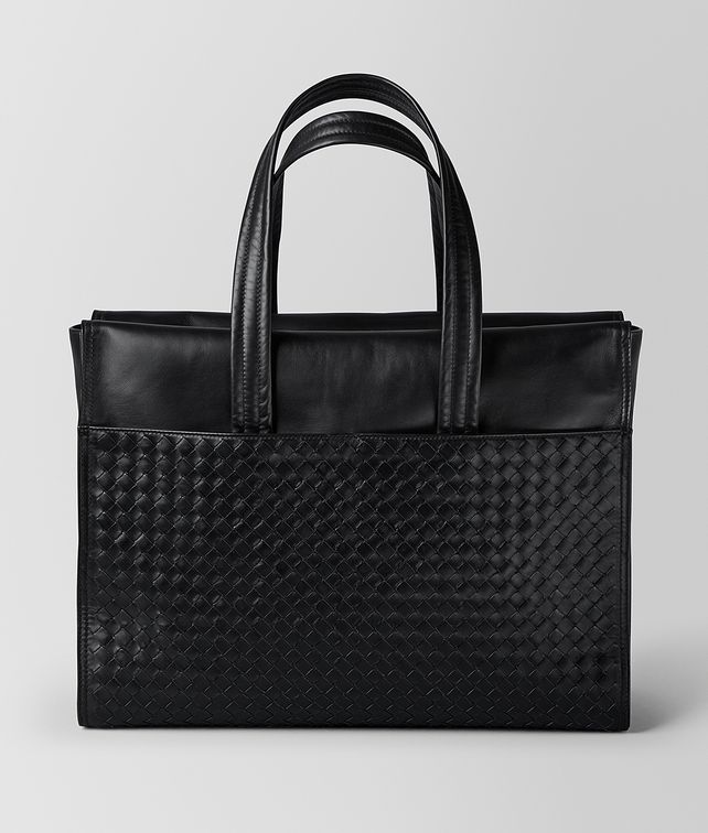 BOTTEGA VENETA NERO INTRECCIATO CALF TOTE Tote Bag Man fp