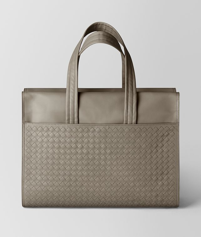BOTTEGA VENETA DARK CEMENT INTRECCIATO CALF TOTE Tote Bag Man fp