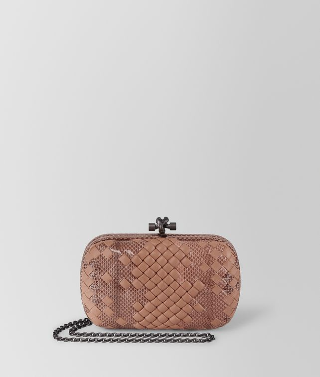 BOTTEGA VENETA DAHLIA INTRECCIATO IMPERATRICE CHAIN KNOT Clutch [*** pickupInStoreShipping_info ***] fp