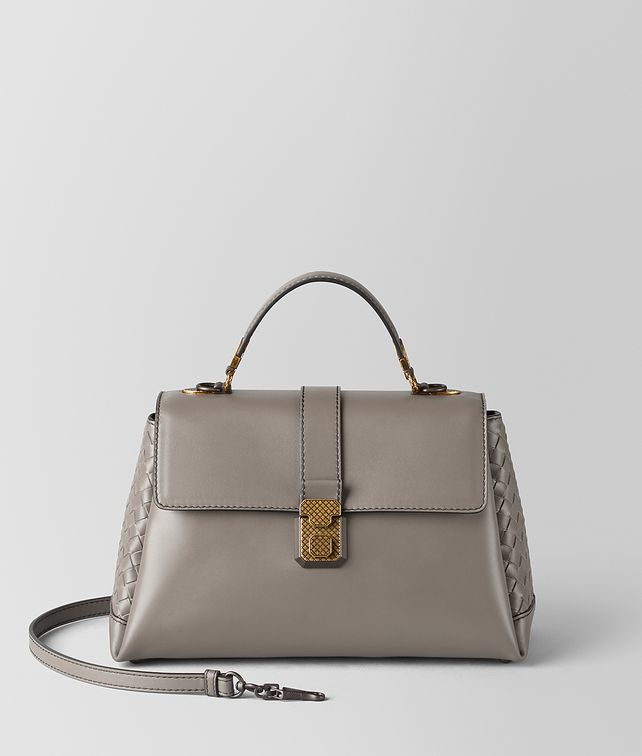 BOTTEGA VENETA BORSA PIAZZA IN VITELLO STEEL Borsa a Mano Donna fp