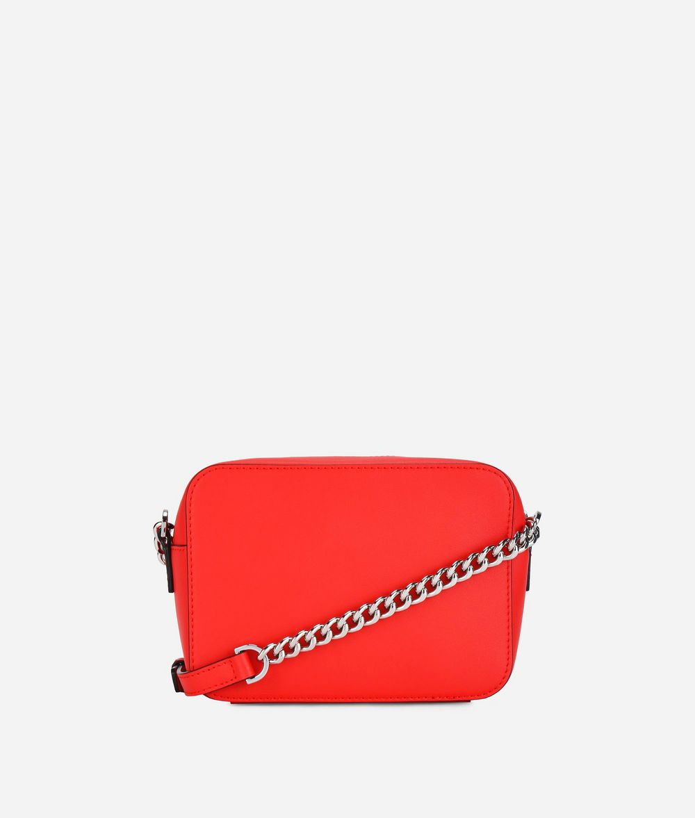 KARL LAGERFELD K/Stripes Leather Camera Bag Crossbody Bag Woman d