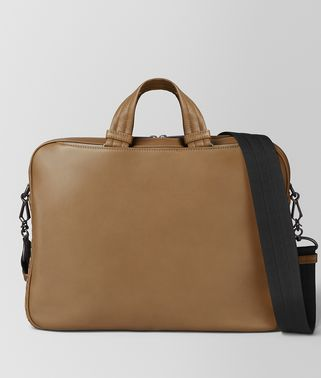 CAMEL BUTTER CALF SMALL SOFT BRIEFCASE