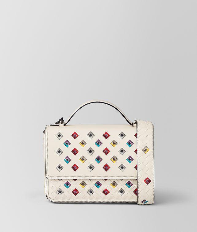BOTTEGA VENETA MIST INTRECCIATO SQUADRATO ALUMNA BAG Crossbody bag Woman fp