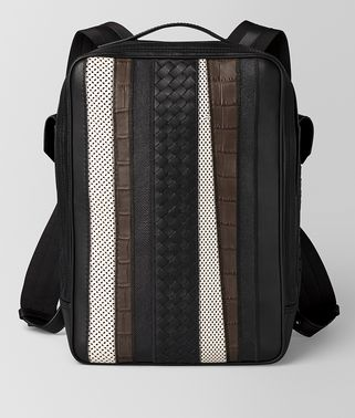 NERO NAPPA/PRECIOUS MIX STRADE BRICK BACKPACK