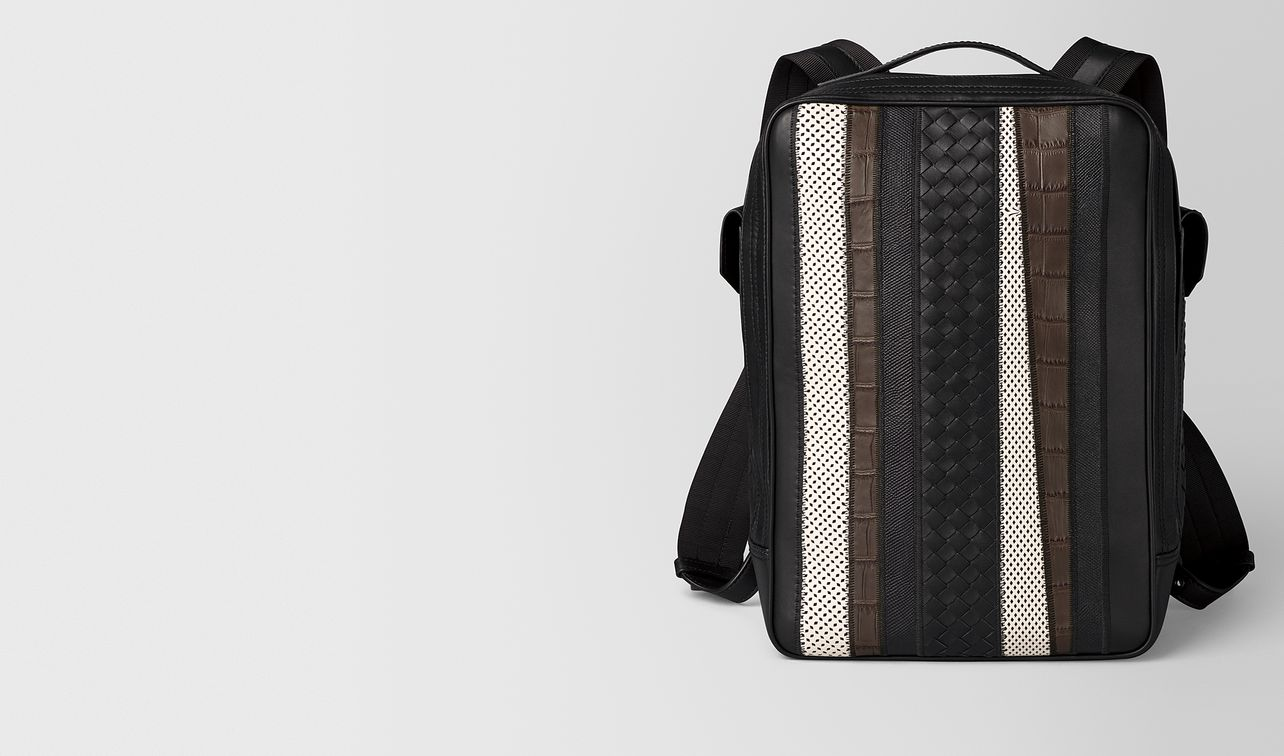 nero nappa/precious mix strade brick backpack landing