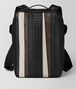 nero nappa/precious mix strade brick backpack Front Portrait