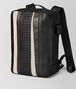 BOTTEGA VENETA NERO NAPPA/PRECIOUS MIX STRADE BRICK BACKPACK Backpack Man rp