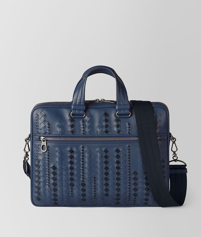 BOTTEGA VENETA PACIFIC/TOURMALINE CALF BRIEFCASE Business bag [*** pickupInStoreShippingNotGuaranteed_info ***] fp