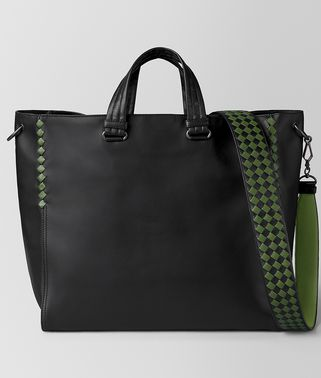 BV TOTE BAG AUS INTRECCIATO CHECKER KALBSLEDER IN NERO FERN
