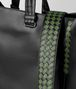 BOTTEGA VENETA NERO/FERN CALF INTRECCIATO CHECKER BV TOTE Tote Bag Man ep