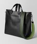 BOTTEGA VENETA NERO/FERN CALF INTRECCIATO CHECKER BV TOTE Tote Bag Man rp