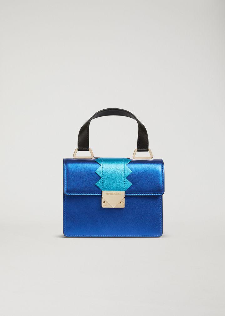 5da58985c7 Mini-Bag aus laminiertem Leder mit Tragriemen | Damen | Emporio Armani