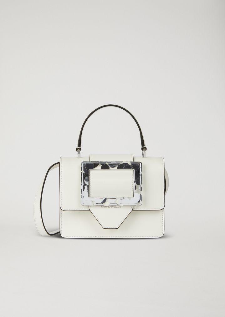 99b36f83f4 Handbag with Plexiglas closure | Woman | Emporio Armani