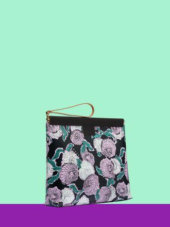 Marni MARNI MARKET medium clutch in floral PVC with black background Man