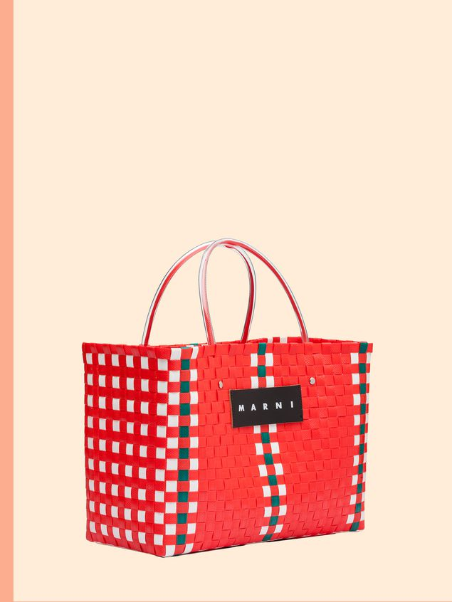 Red Woven Marni Market Tote Bag From The Marni Fall Winter