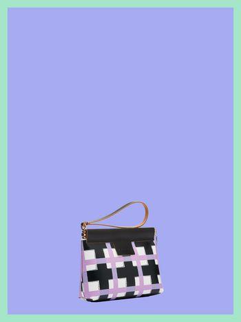 Marni MARNI MARKET small clutch in chequered PVC  Man