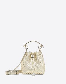 VALENTINO GARAVANI BUCKET BAG D Rockstud Spike Small Bucket Bag  f