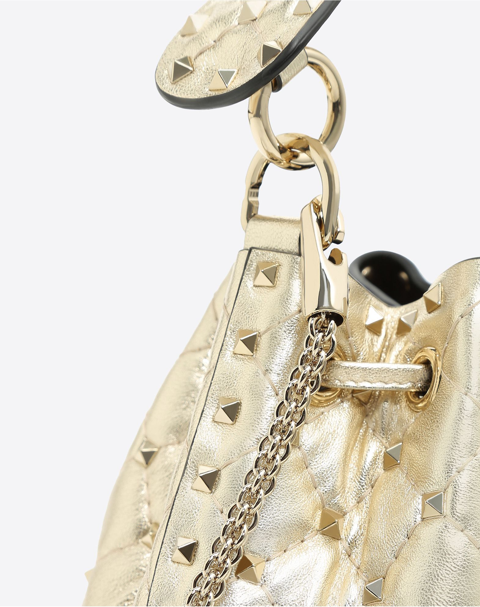 VALENTINO GARAVANI Rockstud Spike Small Bucket Bag  BUCKET BAG D b
