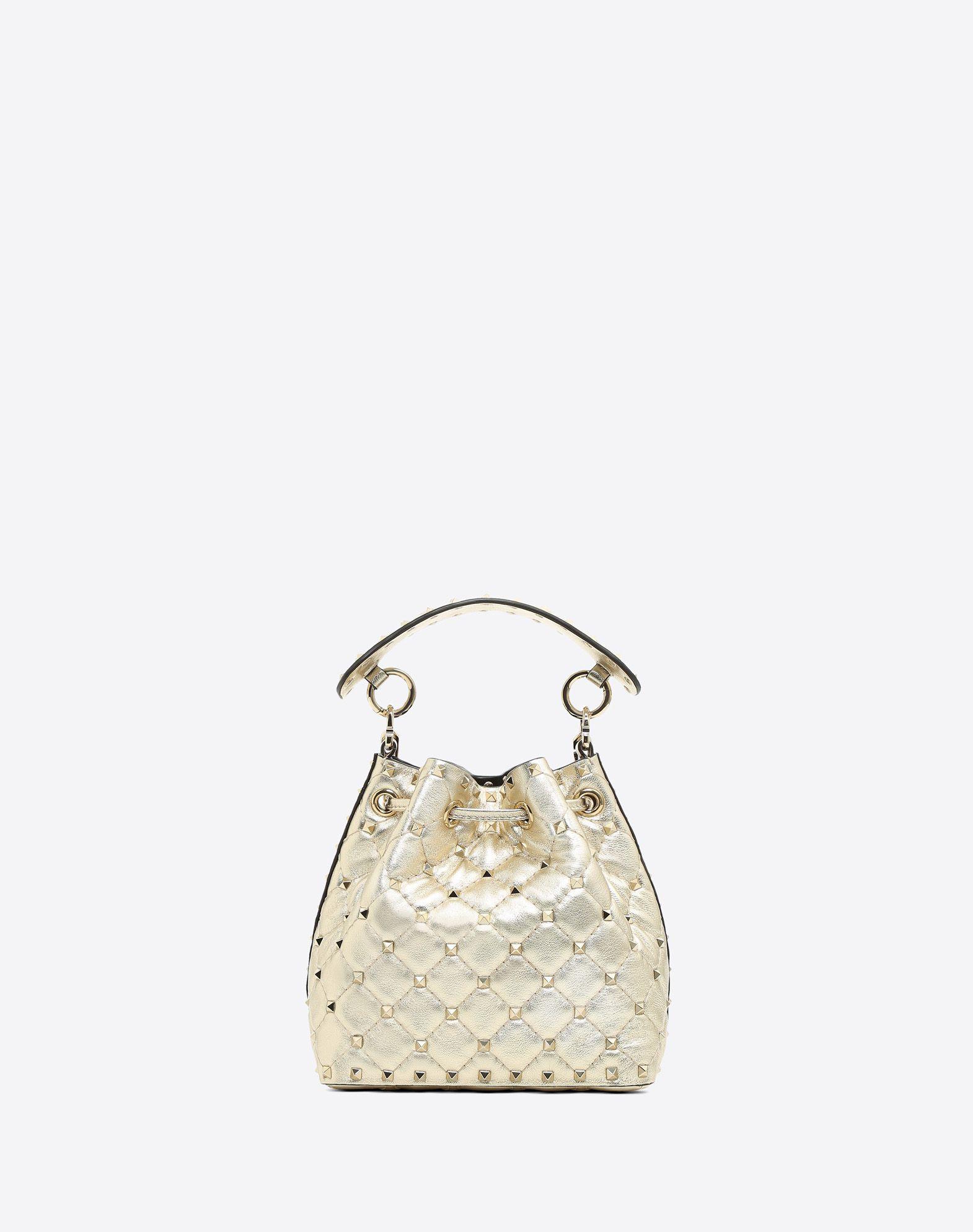 VALENTINO GARAVANI Rockstud Spike Small Bucket Bag  BUCKET BAG D d