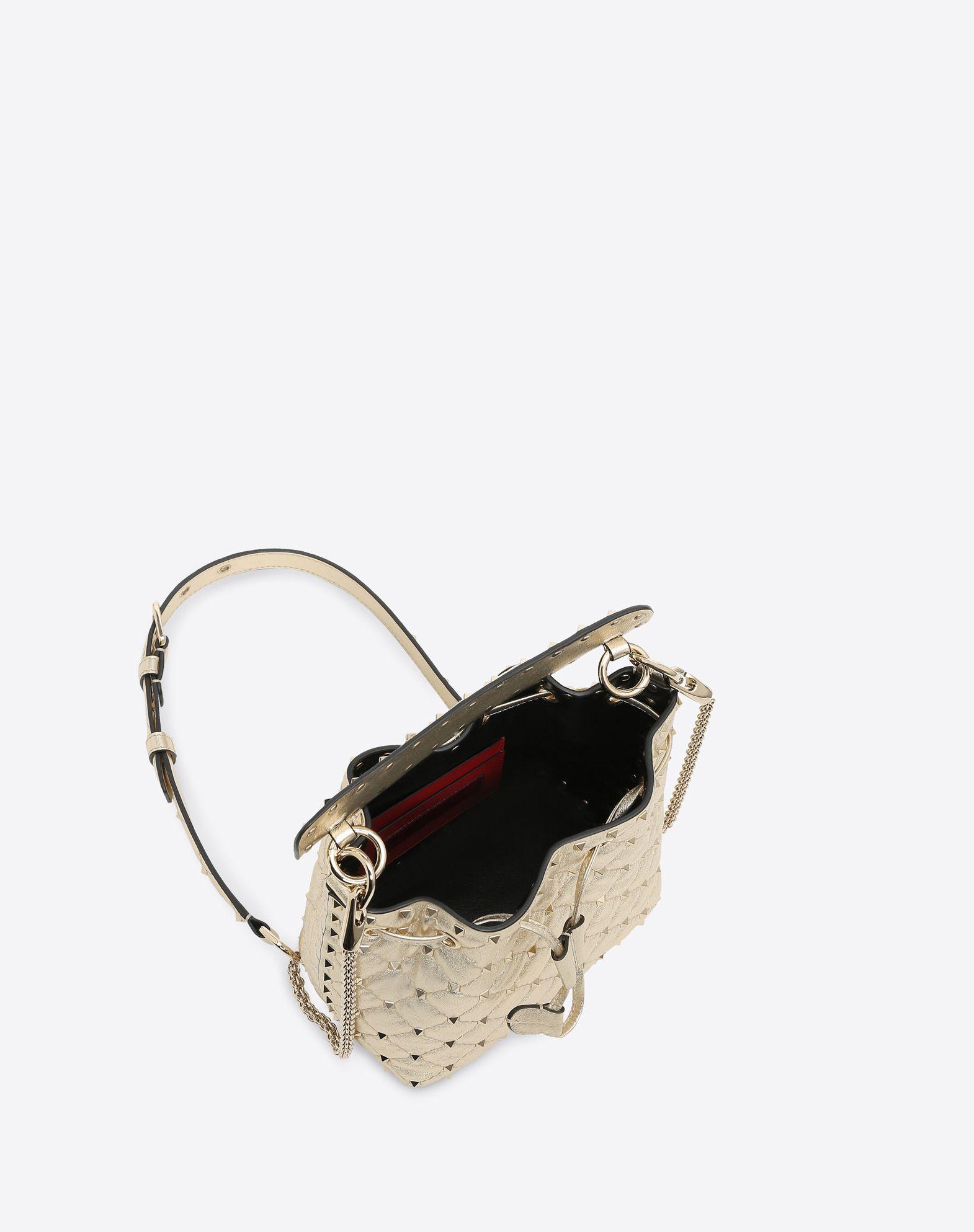 VALENTINO GARAVANI Rockstud Spike Small Bucket Bag  BUCKET BAG D e