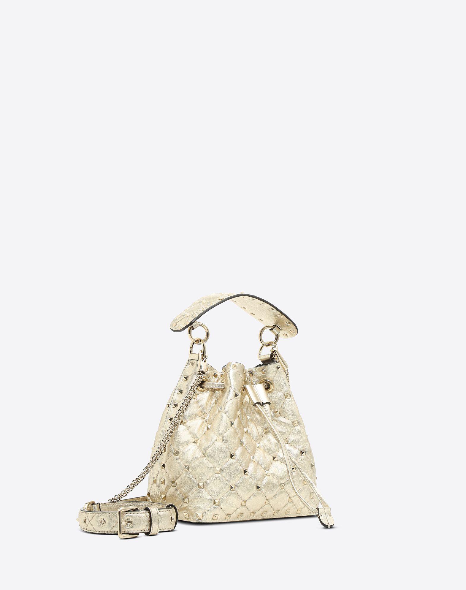 VALENTINO GARAVANI Rockstud Spike Small Bucket Bag  BUCKET BAG D r